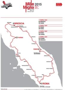 Cartina Mille Miglia 2015