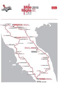 Cartina 1000Miglia 2015 con orari