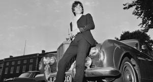 Keith Richard con la Bentley