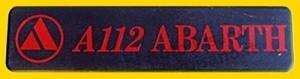 targhetta  A112 Abarth