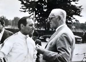 Tino Brambilla e Enzo Ferrari