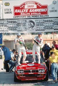 149767: (/PHOTO4) 2007-01-01 - -  - Miki Biasion Story - World Rally Championship 1989 Rally San Remo - Miki Biasion (ita) Tiziano Siviero (ita) Lancia Delta Integrale 1st position