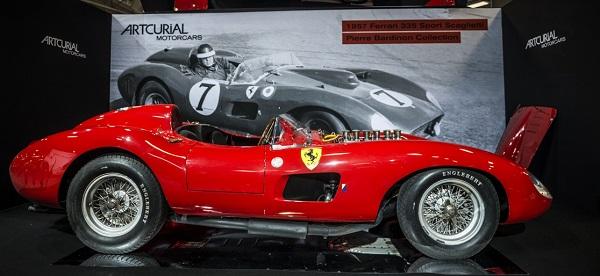 Record Ferrari all'asta a Rètromobile 2016.