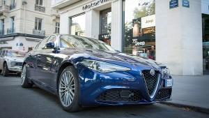 Alfa Nuova Giulia a Parigi