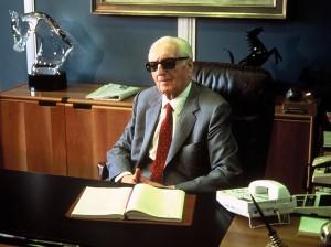Enzo Ferrari (1898-1988) in 1986 Maranello, Italy