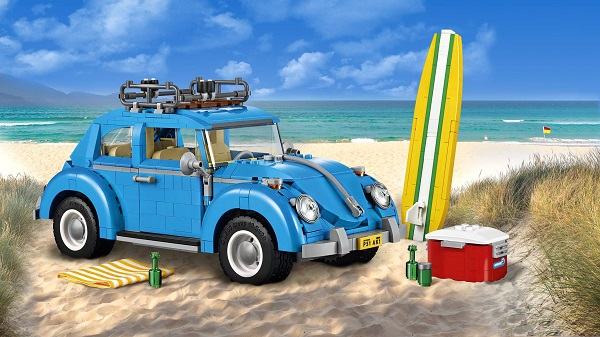 Modellino VW Maggiolino by Lego.