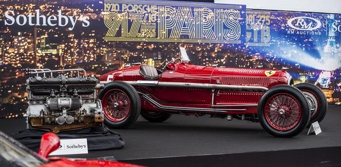 L'Alfa Romeo Tipo B P3 ex Nuvolari protagonista all' asta RM Sotheby's a Parigi.