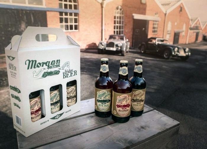 La casa automobilistica Morgan lancia birre ispirate alle auto sportive.