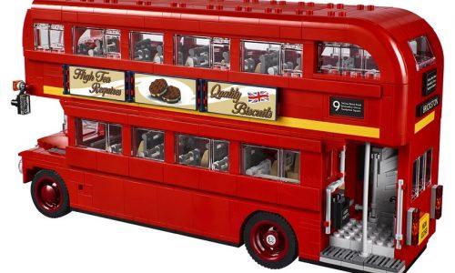 Un bus londinese a mattoncini.