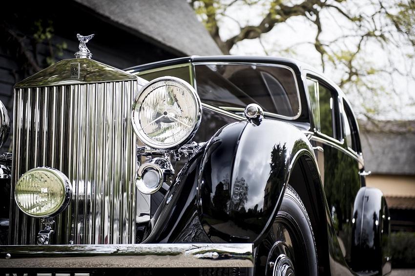 La Rolls-Royce del Gen. Montgomery protagonista alla passerella di Mayfair a Londra.