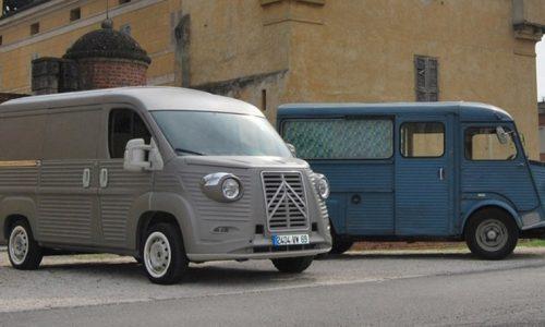 Un tributo ad un furgone storico francese.