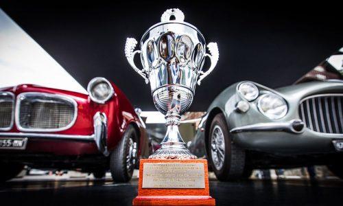 La Fiat 8V premiata alla 36° Cesana Sestriere 2017.