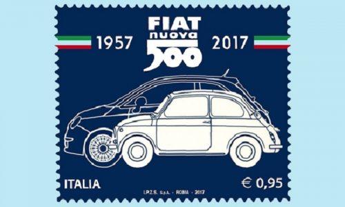 Fiat 500, per i 60 anni diventa un francobollo da collezione