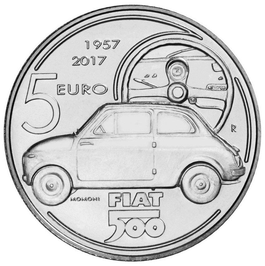 Una moneta da 5 euro per festeggiare i 60 anni della Fiat 500.