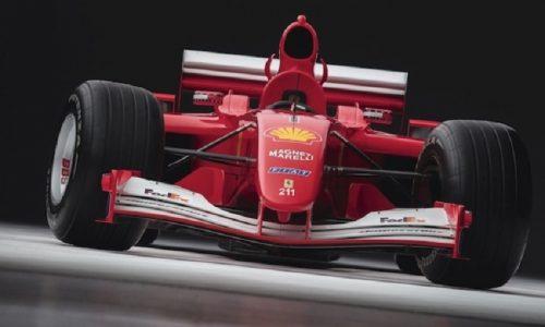 All'asta tra le opere d'arte la Ferrari F2001 di Schumacher.