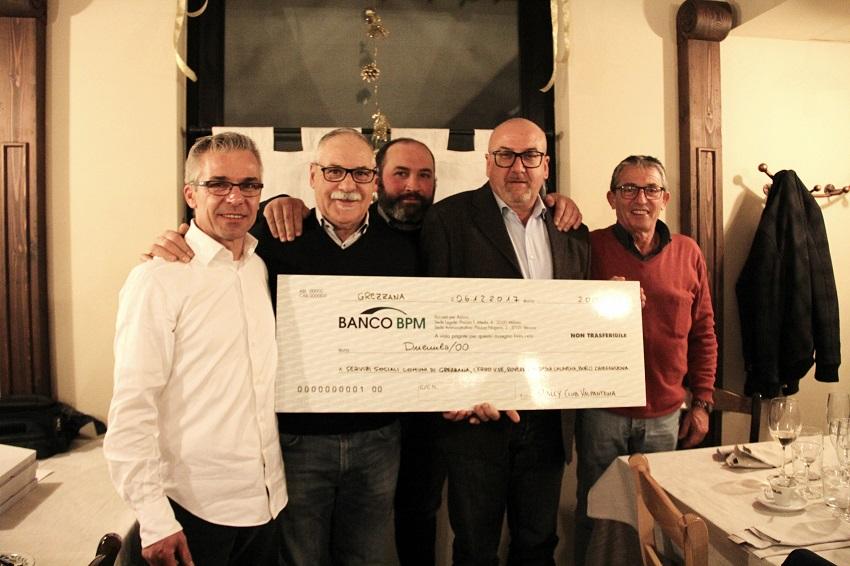 Il Rally Club Valpantena consegna un contributo benefico!