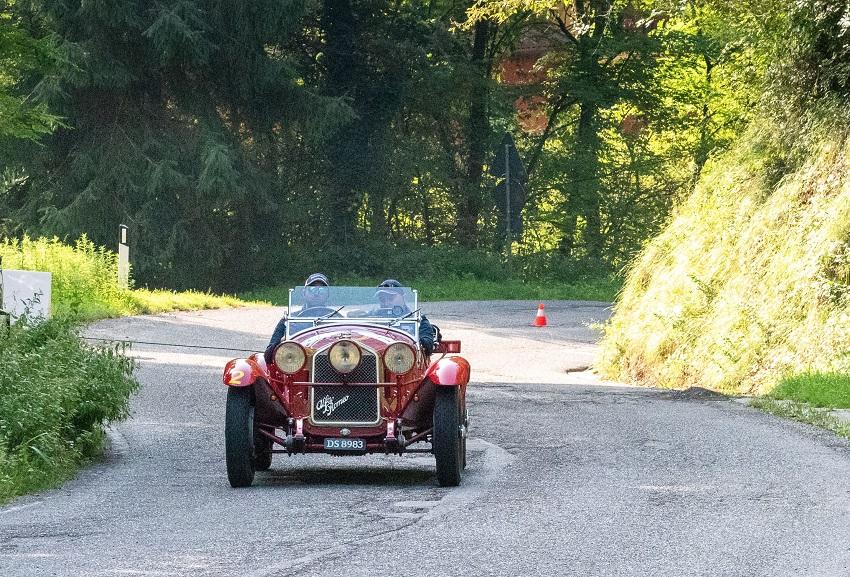 Vesco e Guerini su Alfa Romeo 6C Top Car alla XVIII Città di Lumezzane.