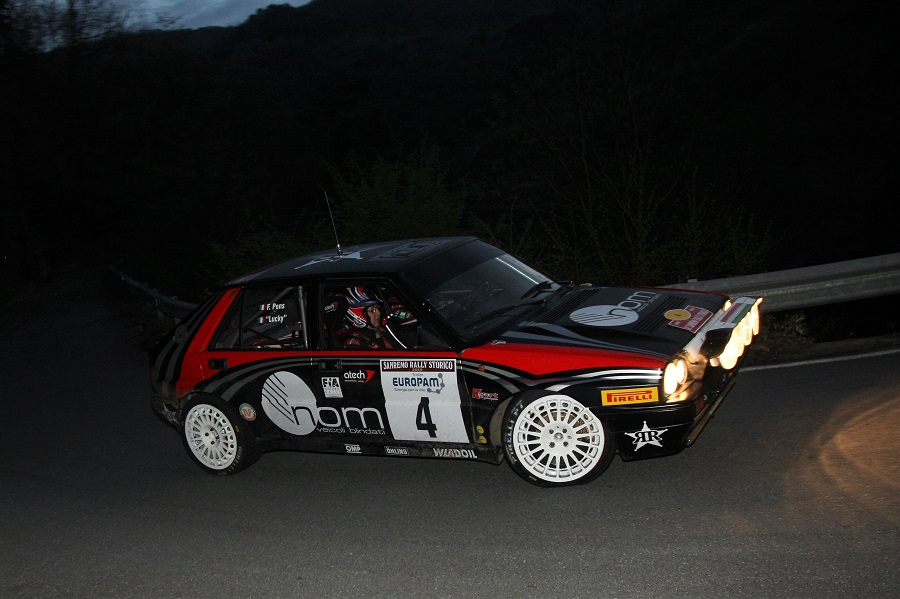 Una Lancia Delta Integrale vince il 34° Sanremo Rally Storico come ai vecchi tempi.