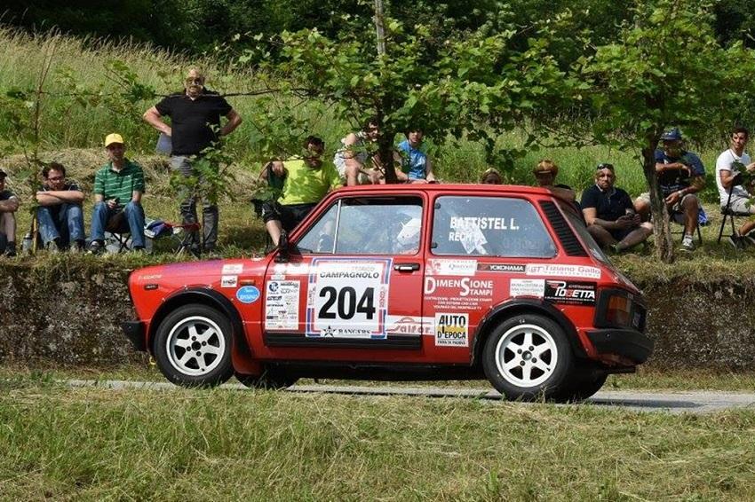 Trofeo A112 Abarth Yokohama: è record d'iscritti al Rally Campagnolo