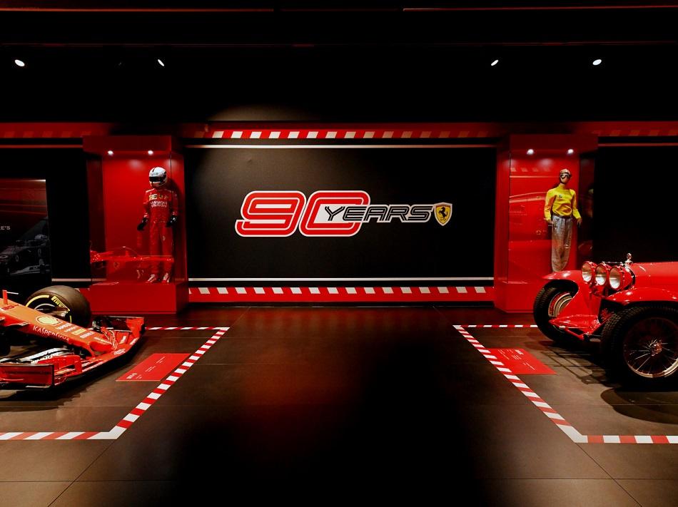 Ferrari: in mostra auto storiche per i 90 anni della Scuderia.
