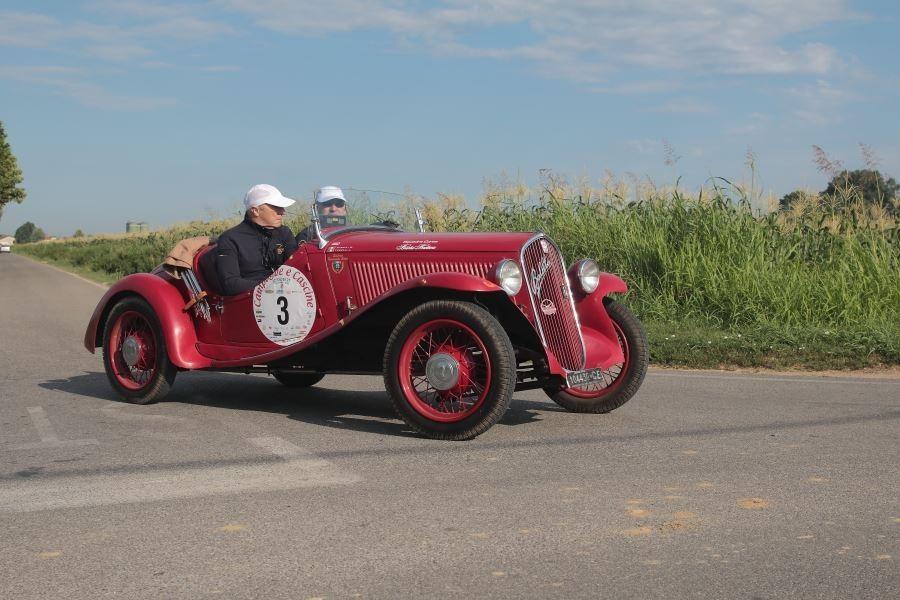 Lorenzo e Mario Turelli su Fiat 508 S Coppa oro vincono il Campagne e Cascine