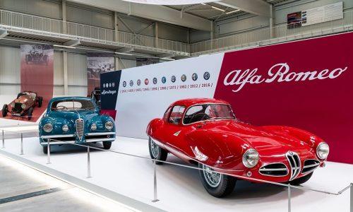 """Inaugura la mostra """"Mito Alfa Romeo"""" al Museo della Tecnica di Sinsheim."""