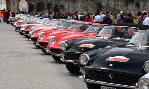 Preziose Ferrari d'epoca a Roma per Cavalcade Classiche.