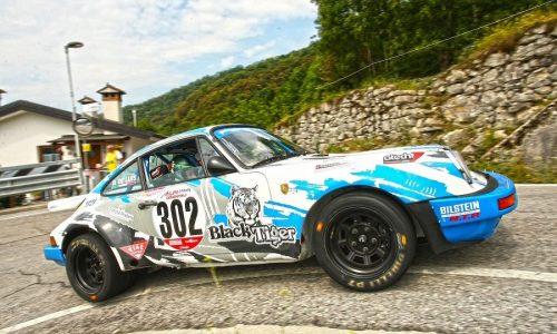 Da Zanche su Porsche fa suo 24°Rally Alpi Orientali Historic per la terza volta.