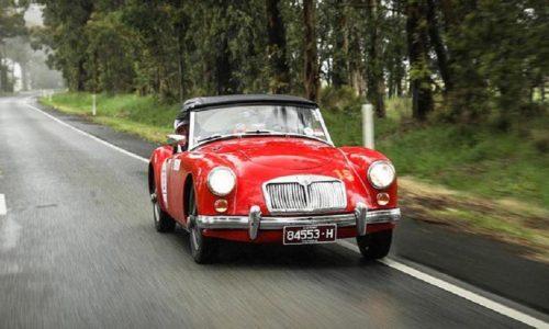 Targa Florio Australian Tribute, primi Pizzuto Vagliani su MG A del 1961.