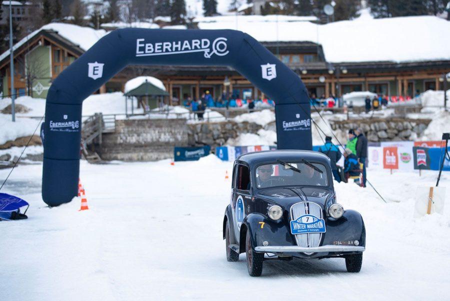 Il lago ghiacciato della Winter Marathon 2020 arride a Bellini-Tiberti.