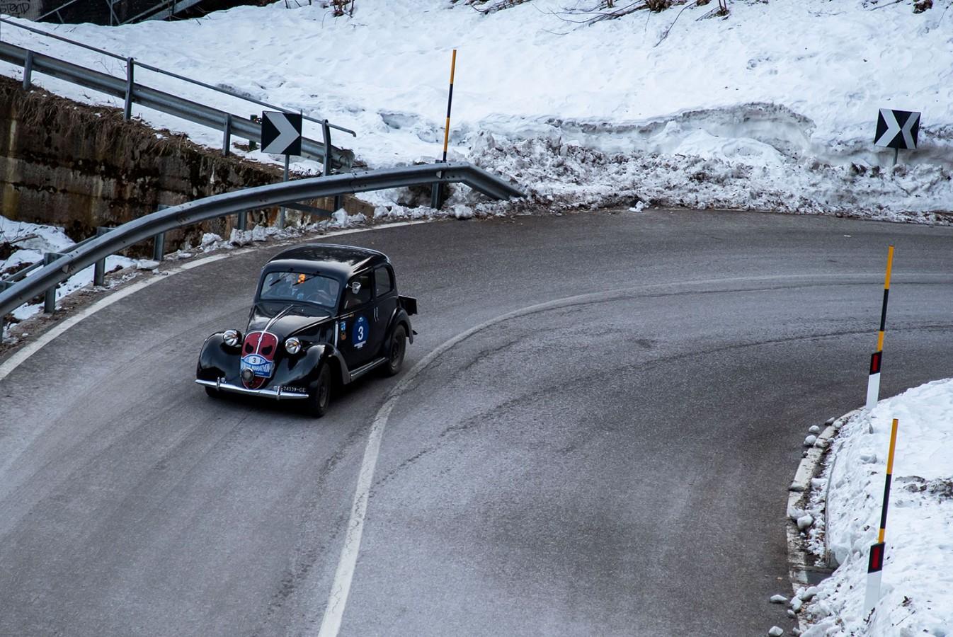 Belometti-Bettinsoli vincono la 32ª Winter Marathon su Fiat 508 C del 1937.