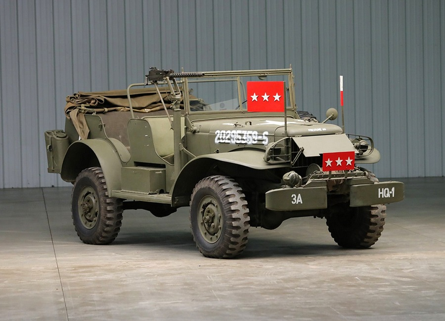 Dodge WC57, va all'asta il Command Car del generale Patton