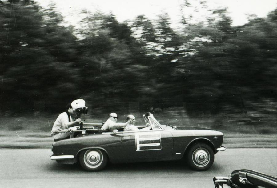 Fangio testimonial d'occasione per il Cinturato Pirelli.