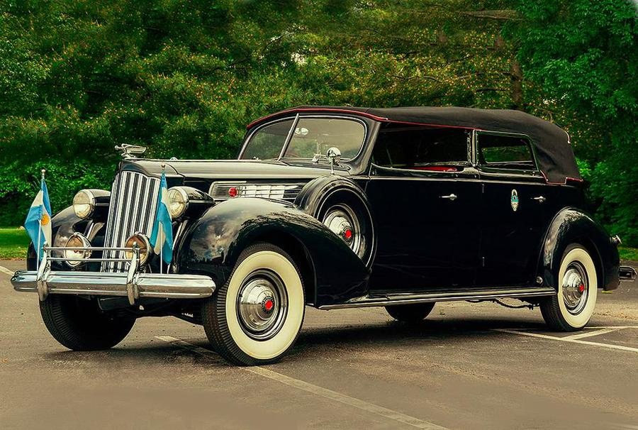 Packard Super Eight Phaeton, asta per ammiraglia di Evita.
