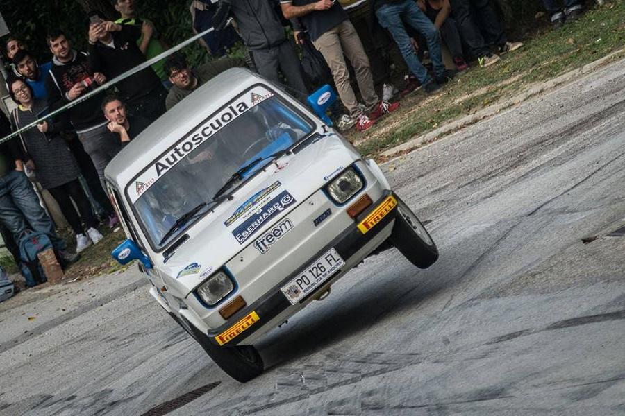 Una piccola leggendaria presenza al Rallylegend: Polato e la sua Fiat 126.