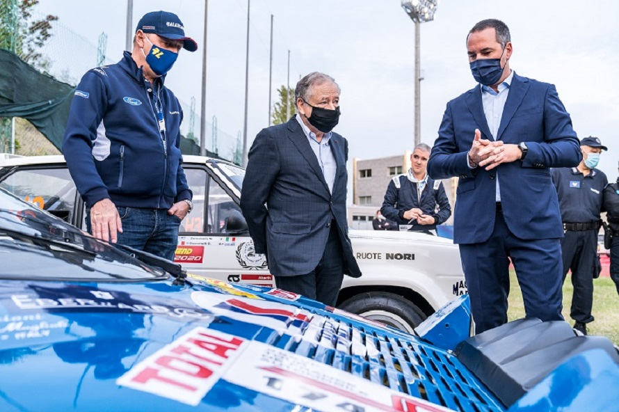 Il Presidente FIA Jean Todt visita il Rallylegend.