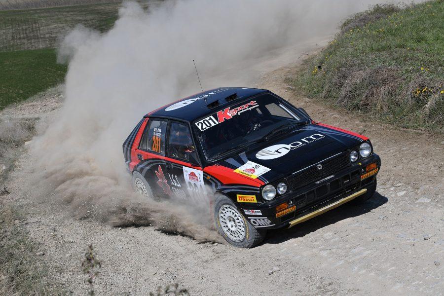 La Lancia Delta Integrale di Lucky- Pons vincono il 3° Rally Storico della Val d'Orcia 2021.