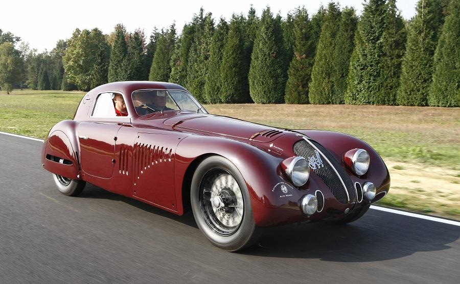 Alfa Romeo 8C 2900 B Le Mans e 33 Stradale, damigelle d'onore del REB Concours di Roma.