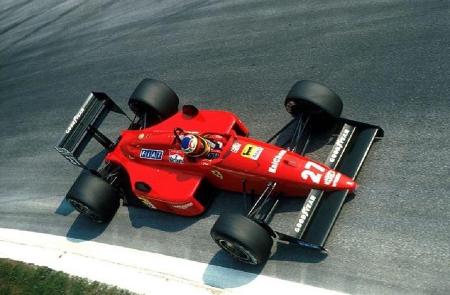 Curva parabolica autodromo di Monza intitolata a Alboreto.