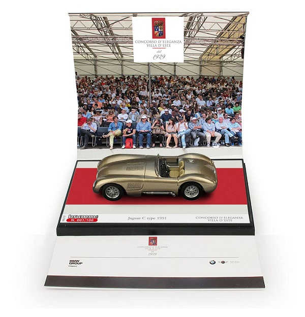 Modellino Jaguar speciale della Brumm per Villa d'Este 2015.