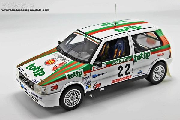 Fiat Uno Turbo i.e. Gr.A: un prototipo di modellino.
