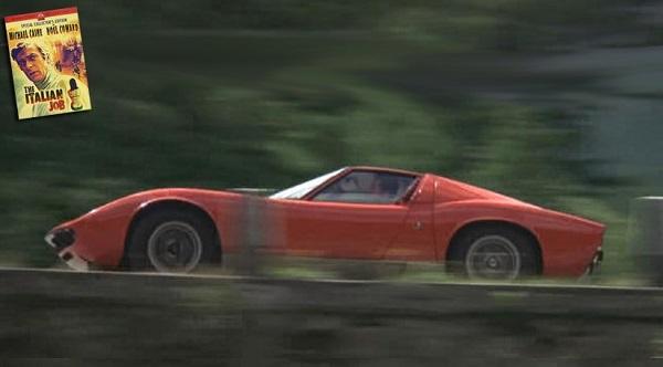 In vendita la Lamborghini Miura protagonista del film 'Italian job'.