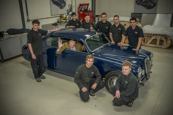 Aurelia del '55 per primo corso restauro auto storiche inglese.