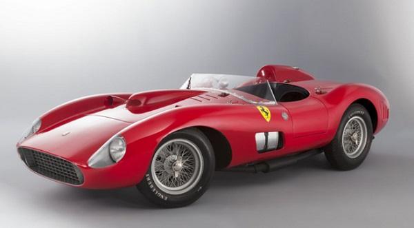 Altre Ferrari da record per un'asta: la Ferrari 335 S Spider Scaglietti della collezione Bardinon.