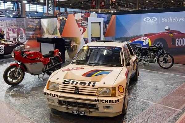 La Peugeot 205 T16 Gr.B di Vatanen all'asta.