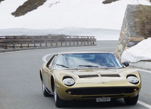 Lamborghini sulle strade del film 'The Italian job'.