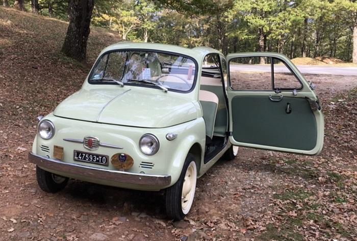Fiat 500 Classe 1957, una sessantenne ancora in forma.