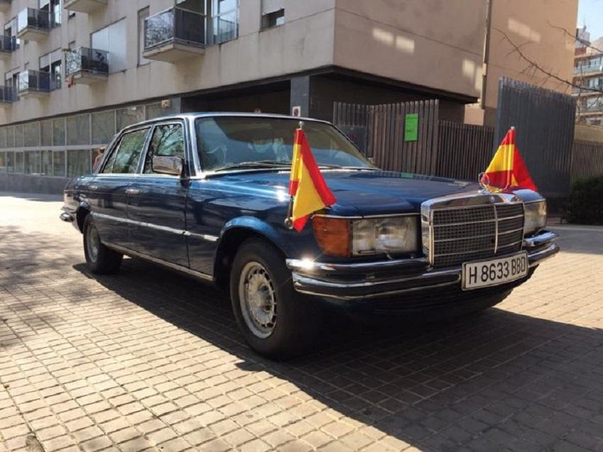 All'asta la Mercedes 450 SEL di Re Juan Carlos