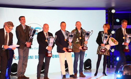 A Roma, la premiazione dei vincitori dei Trofei e delle Coppe dei campionati 2017 Auto Storiche.