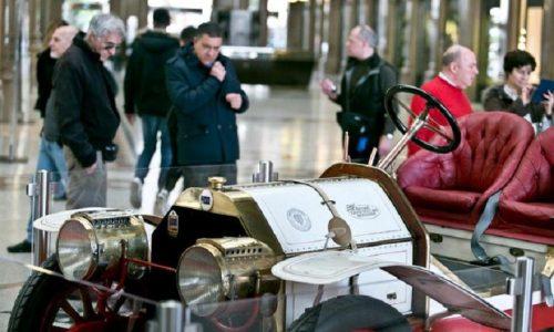 Una rara Lancia Epsilon Corsa del 1912 in mostra a Roma.
